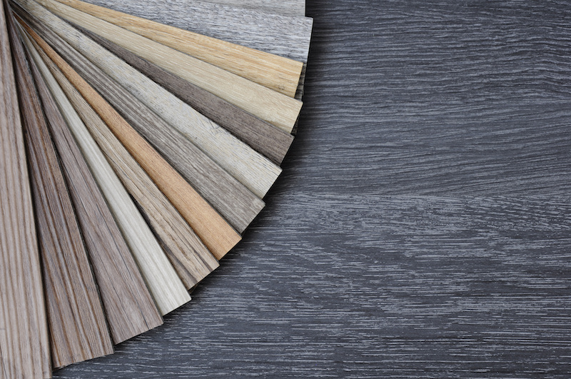 Vinyl Floor Tile On Black Wooden